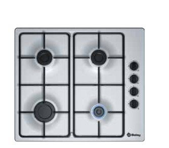 Placa de gas BALAY 3ETX464MB color inox, fuegos, 60 cm