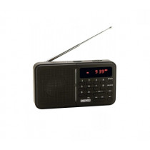 Radio portatil DAEWOO DRP122B, Digital, Micros SD, Negro