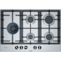 Placa de gas BOSCH PCS7A5B90,  5 fuegos, 75cms, inox, gas natural