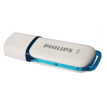 Pendrive PHILIPS 2.0 SNOW 16GB 1USB 2.0, Type-A, Azul, Gris