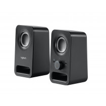 Altavoz multimedia LOGITECH Z150 2.0 , color negro, 3 W, inalámbrico, 3'5 mm