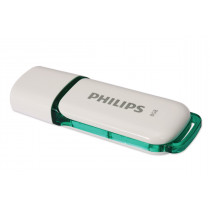 Pendrive PHILIPS 2.0 SNOW 8GB color blanco y verde