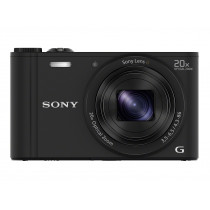 Cámara compacta SONY DSCWX350B , color negra, 18.2MP